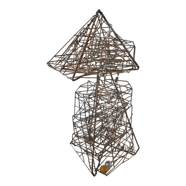 1960s Abstract Guy Pullen Wire Sculpture For Sale