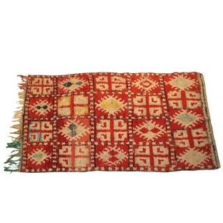 """Vintage Boucherouite Moroccan Carpet - 7' X 4'1"""""""