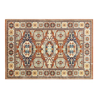 Turkish Anatolian Red Baby Blue 6'5'' X 9'3'' For Sale
