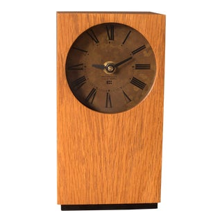 Mid Century Modern Desk Clock For Sale