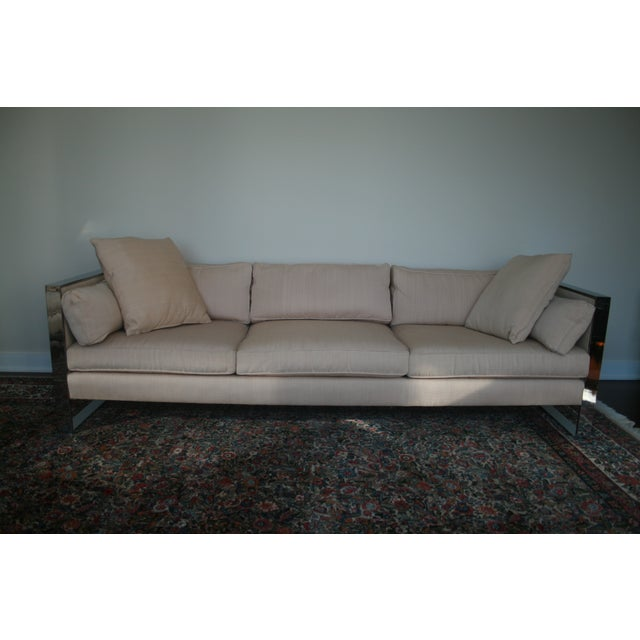 Milo Baughman Chrome Sofa and Loveseat - Image 2 of 11