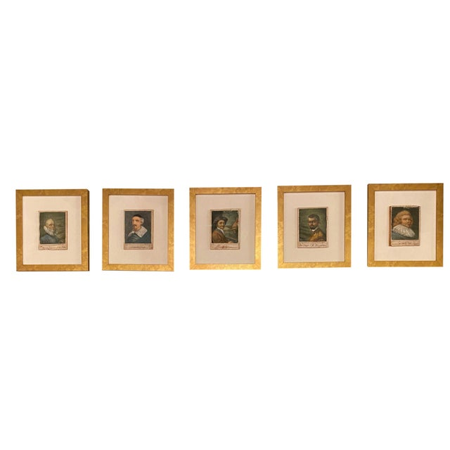 Paper 18th Century Italian Prints Newly Framed - Set of 5 For Sale - Image 7 of 9