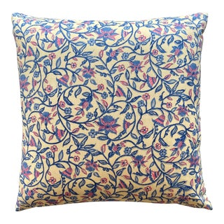Indian Block Printed Pillow For Sale