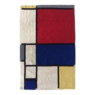Louis H.Guidetti Mondrian Hand-Hooked Rug - 3' x 4'6""