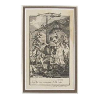 1781 Italian Engraving, Divine Comedy (Dante Alighieri) Canto 9 For Sale
