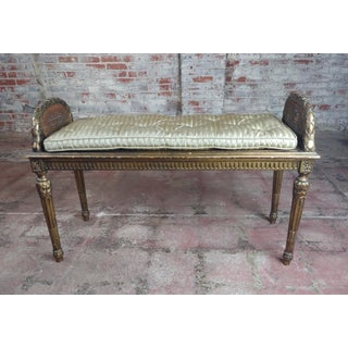Antique French Louis XVI Cane Bed Bench Preview