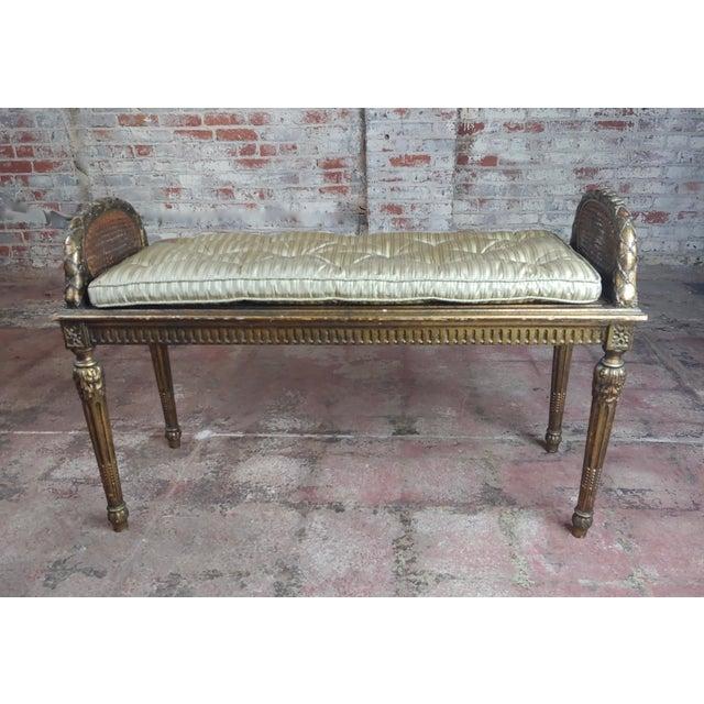Astounding Antique French Louis Xvi Cane Bed Bench Machost Co Dining Chair Design Ideas Machostcouk