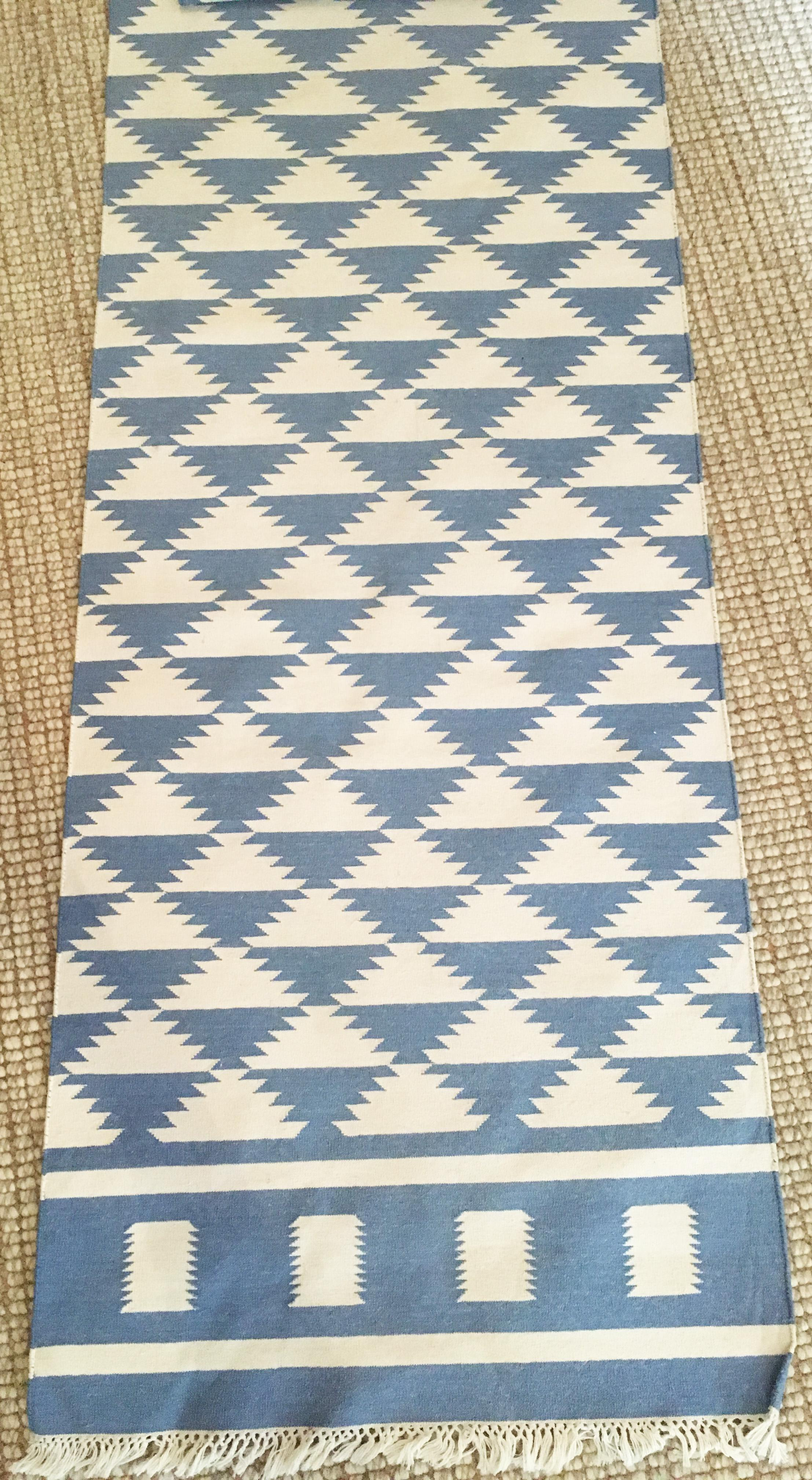 tribal aztec pattern runner rug 2 7 x 20 chairish