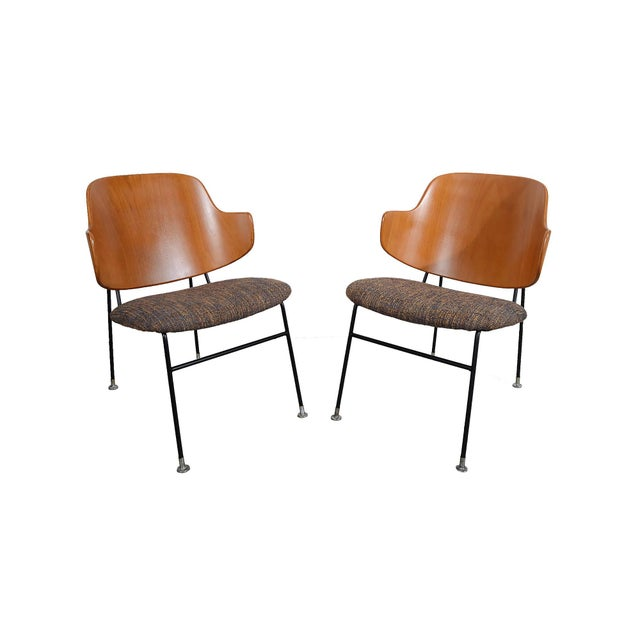 Kofod Larsen Penguin Chairs Danish Modern Lounge Chairs - A Pair For Sale In Washington DC - Image 6 of 6