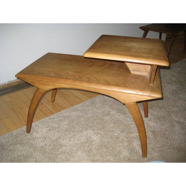 Heywood-Wakefield Heywood Wakefield Mid-Century Coffee Table & End Tables - Set of 3 For Sale - Image 4 of 8