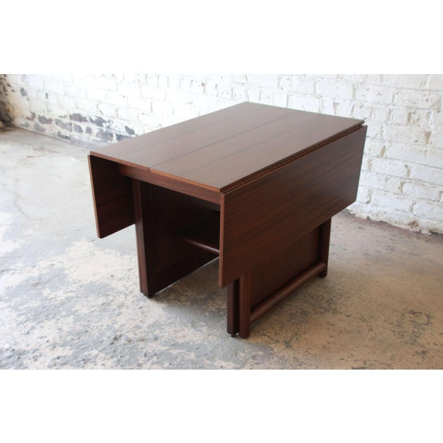 Large Edward Wormley for Dunbar Mahogany Extension Dining Table For Sale - Image 9 of 13