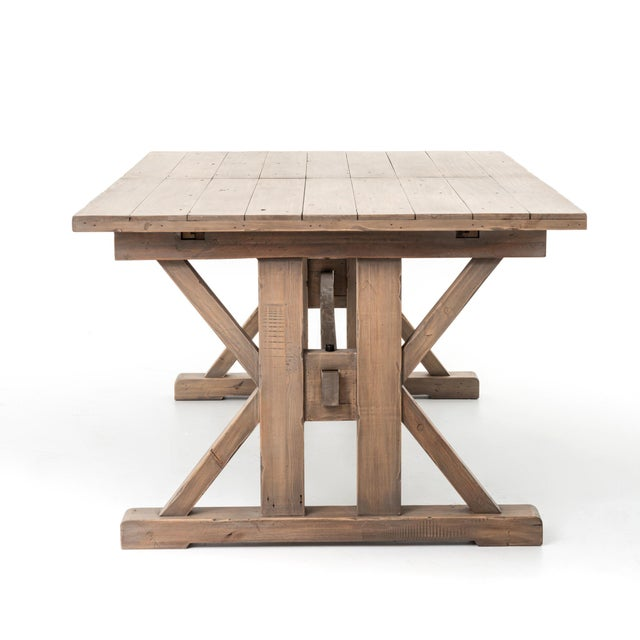 7999987295c507 Mediterranean Modern Farmhouse Extendable Dining Table For Sale - Image 3  of 7