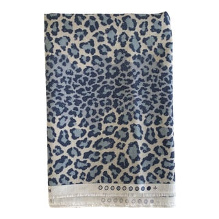 Colefax and Fowler Blue Panthere Fabric- 3/4 Yard For Sale