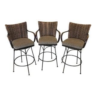Palechek Rotating Bar Stools - Set of 3 For Sale