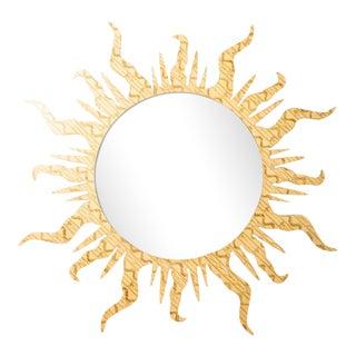 Fleur Home x Chairish Flambeau Circle Mirror in Gold Leaf, 36x36 For Sale