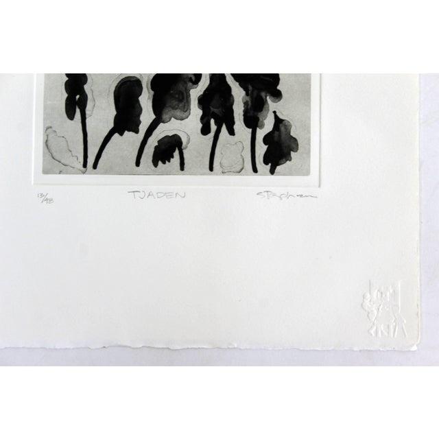 1980s Unframed Lithograph Signed Gary Stephen Tjaden Numbered 13/48 For Sale - Image 5 of 6