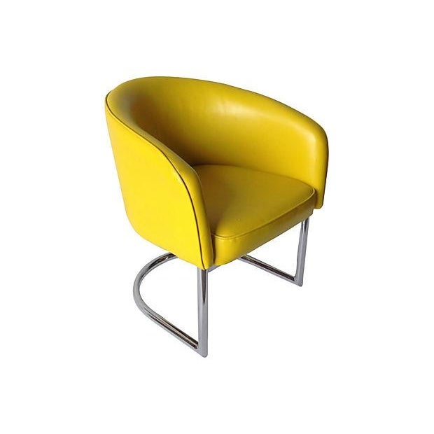 Milo Baughman Chrome Tub Club Chair - Image 1 of 7