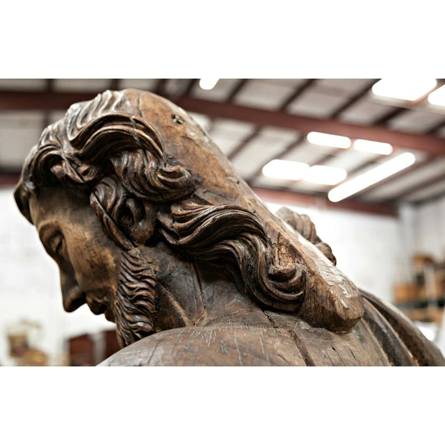 Late 18th Century Late 18th Century St. Joseph Carved Wood Statue For Sale - Image 5 of 10
