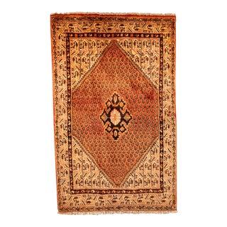 "Vintage Persian Shiraz Rug-4'1'x6'8"" For Sale"