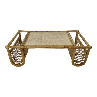 Rattan and Cane Breakfast Tray For Sale