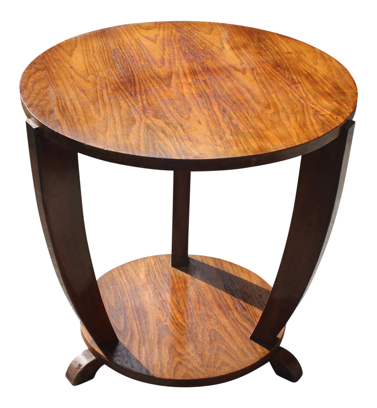 Beautiful French Art Deco Coffee Table Or Side Table Exotic Walnut