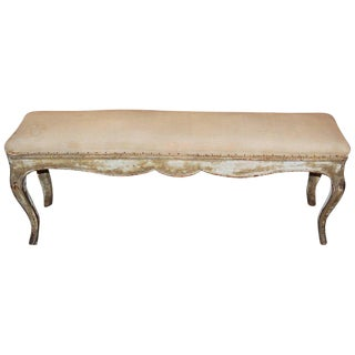 19th Century Gilded & Carved Bench