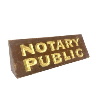 Notary Public Trade Sign For Sale