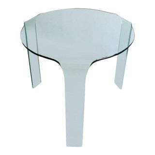 Fiam Italy Molded Glass Table For Sale
