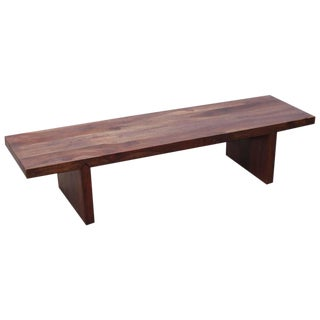 Huge French Bench or Coffee Table With Wooden Connectors For Sale