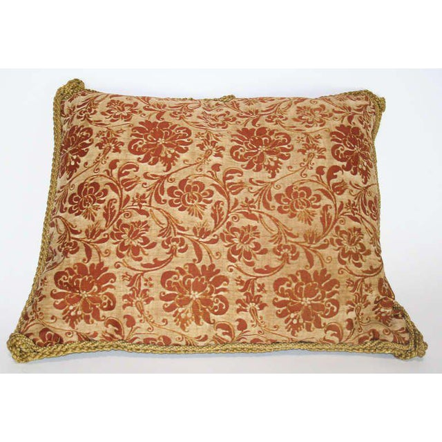 Pillow made from vintage Fortuny fabric, circa 1940.