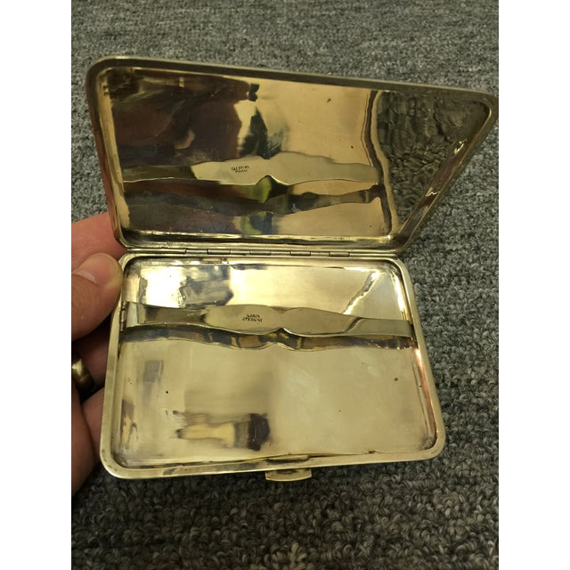 Nautical Siamese Sterling Cigarette Case For Sale - Image 3 of 6
