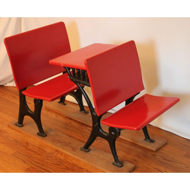 Antique Child's Sears and Roebuck Desk & Seat Set - Image 3 of 10