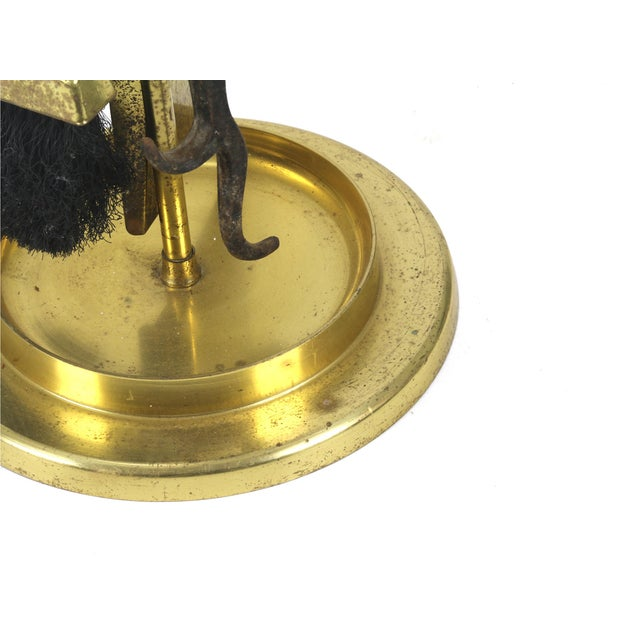 1960s 1960s Vintage Alessandro Albrizi Mid-Century Modern Brass & Lucite Fireplace Tools Set For Sale - Image 5 of 7