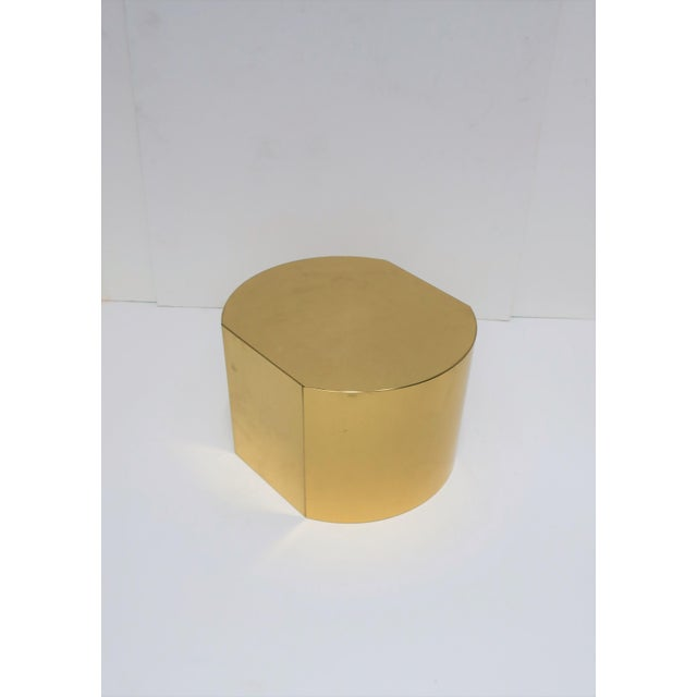 Late 20th Century 1970s Modern Brass Pedestal For Sale - Image 5 of 12
