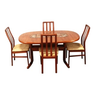 1970s Mid-Century Danish Modern Teak Sva Mobler Dining Set - 5 Pieces For Sale