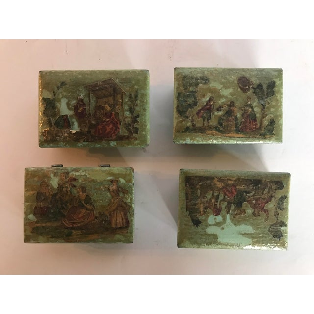 Traditional Green Dresser Boxes - Set of 4 For Sale - Image 10 of 10