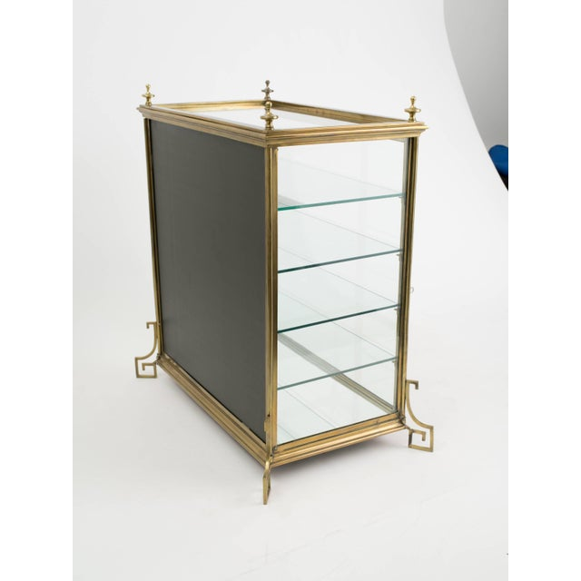 Gold Italian Brass and Glass Display Cabinet For Sale - Image 8 of 11