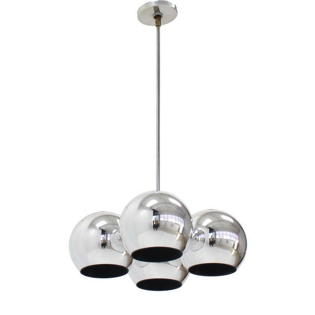 Mid-Century Modern Mid-Century Modern Four Globe Light Fixture Pendant For Sale - Image 3 of 9