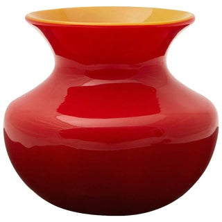 Louis Comfort Tiffany Favrile Cased Red Glass Miniature Vase, Circa 1915 For Sale
