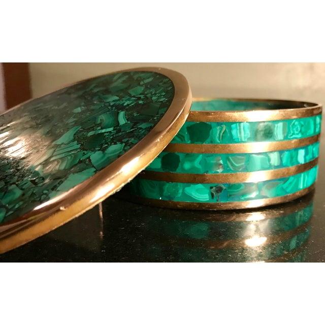 Round Malachite Jewelry Box - Image 5 of 5