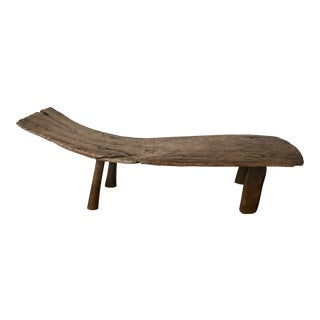 Navajo Style Live Edge Wooden Bench For Sale