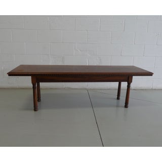Antique Wood Table With Carved Floral Motif Preview