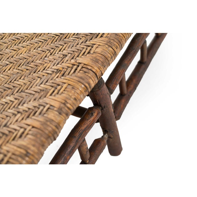 American Rustic Old Hickory Chaise For Sale - Image 4 of 7