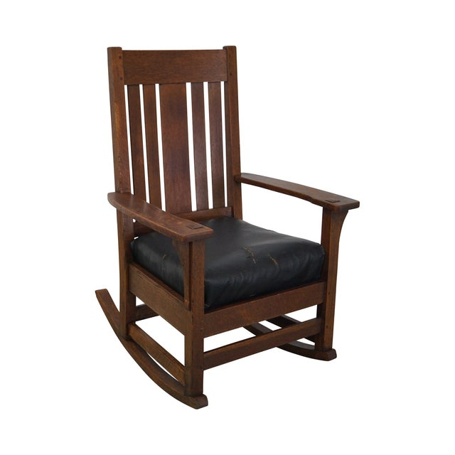 Antique Mission Oak Rocking Chair - Antique Mission Oak Rocking Chair Chairish