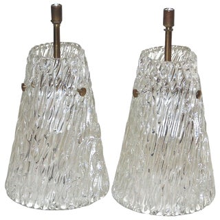Pair of Pendants by Orrefors For Sale