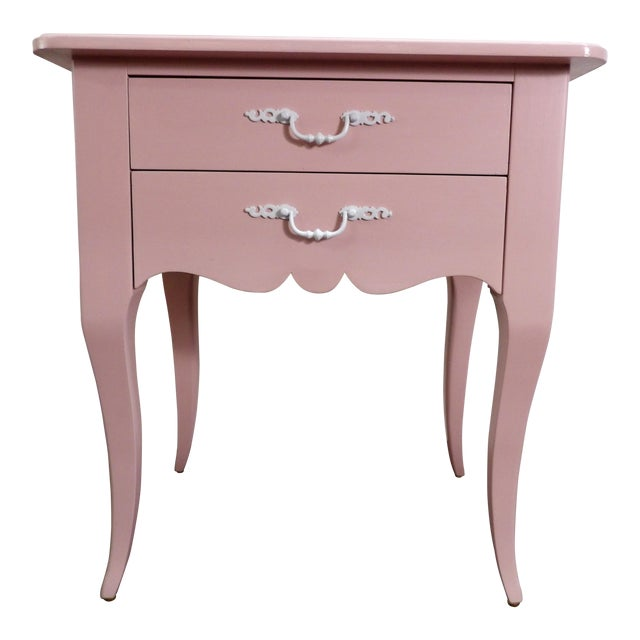 20th Century Light Pink Small Side Table For Sale