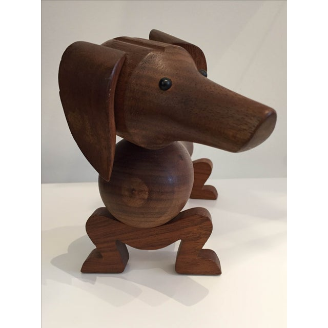 Kay Bojesen Vintage Danish Teak Dachshund For Sale - Image 4 of 5