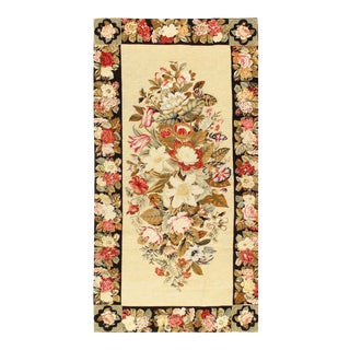 Pasargad Beige Needlepoint Rug - 3′ × 5′11″ For Sale