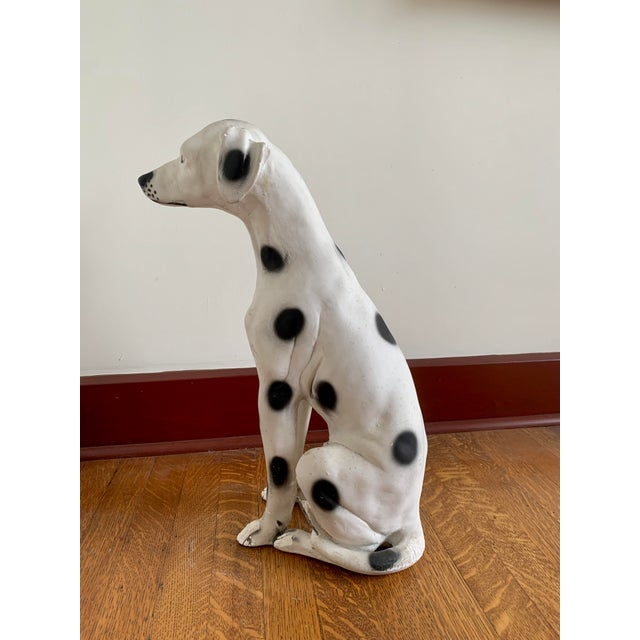 Clay Vintage Chalkware Life Size Dalmatian Statue For Sale - Image 7 of 13
