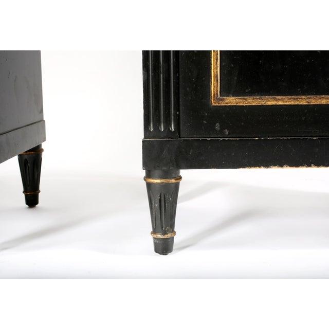 Pair Mid 20th Century Gilt Wood Ebonised Cabinets / Vitrines For Sale - Image 12 of 13